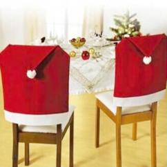 Chair Cover Christmas Decorations Used Inada Massage Santa Clause Red Hat Back Covers For Home Dinner Table Decor Dining Room Chairs