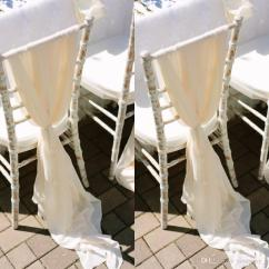 Ivory Chair Covers With Gold Sash Dining Table Host 2019 Romantic Flowy Wedding Sashes Wide And Long 30d
