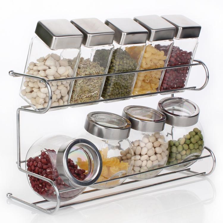 kitchen spice rack commercial cabinets 2019 wholesale bottle set seasoning jar shelf from homegarden 74 01 dhgate com