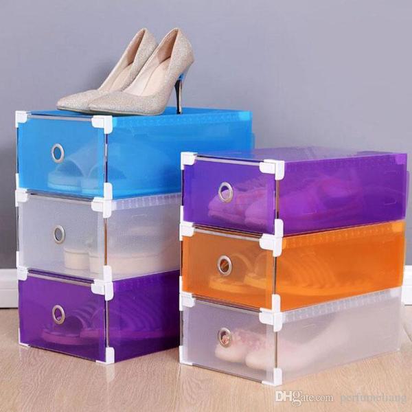 Colorful Plastic Shoe Boxes