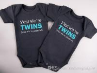 2018 Baby Outfit Yes! We'Re Twins Funny Twins Baby White ...