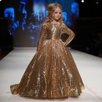 Sparkly Gold Ball Gown Sequined Flower Girls Dresses With ...