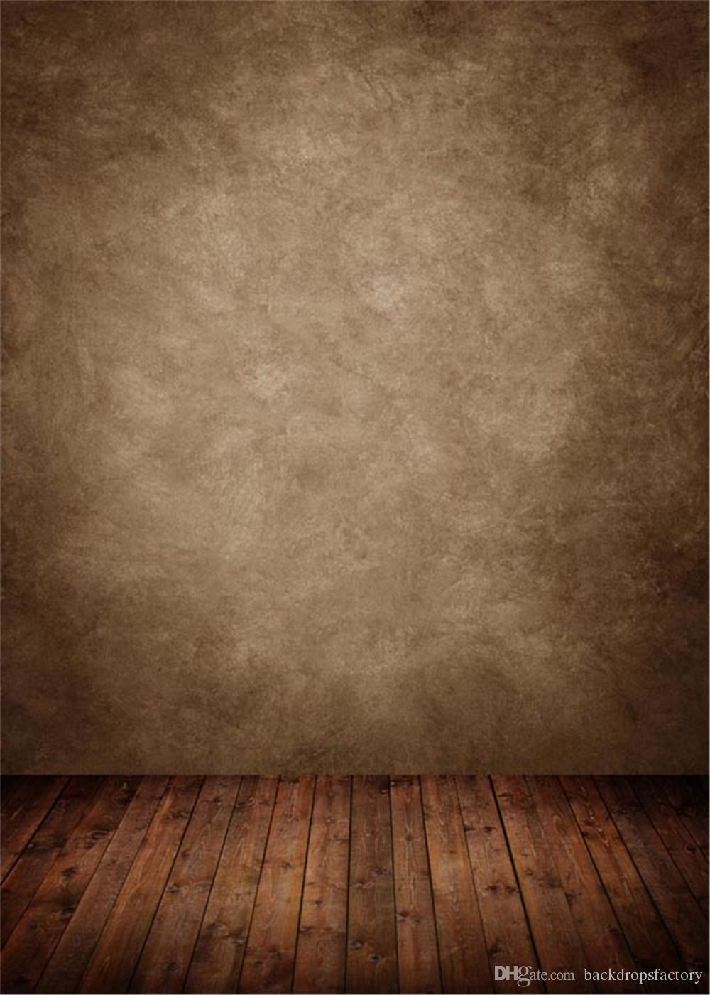 Vintage Brown Wall Photography Backdrop Dark Wooden