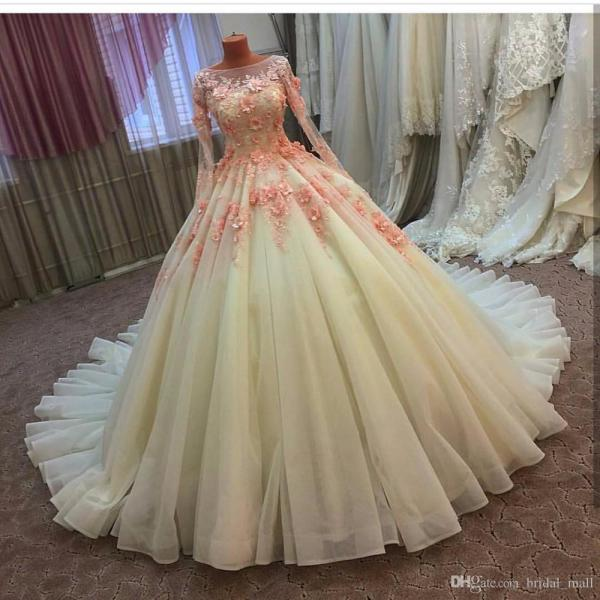 Real Romantic Ruched Bodice Organza Tiered Mermaid Blush
