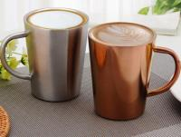 350ml Copper Cups 304 Stainless Steel Coffee Mugs Double ...