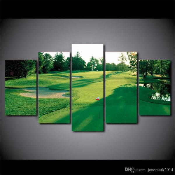 Canvas Art Hd Printed Golf Green Land Wall Living Room Bedroom
