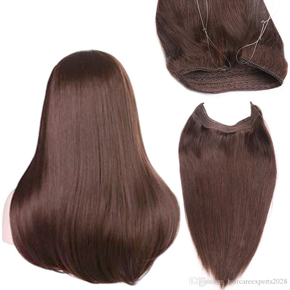 Invisible Wire Headband Hair Extensions 100g Unprocessed