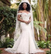 South African Plus Size 2018 Wedding Dresses Mermaid