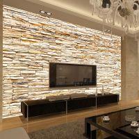 Non Woven Fashion 3d Stone Bricks Wallpaper Mural For ...