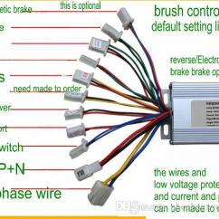 24v Electric Bike Controller Wiring Diagram 3 Phase Contactor 24v36v48v 200w/500w/800w/1000w Brush For Pedal Scooter Mobility ...