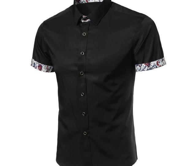 Men Shirt Designer Brand  Male Short Sleeve Shirts Casual Slim Fit Black Dress Shirts Mens Hawaiian Mxl Brand  Male Short Sleeve Shirts Slim Fit