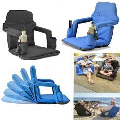 Portable Folding Floor Chairs Ashley Furniture Swivel Chair Smart Stadium For Bleachers Cheap Garden Best Seating Cushions