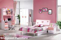 2018 Mdf Teenage Girl Kids Bedroom Furniture Set With 2