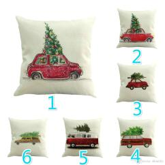 Merry Christmas Chair Covers Wheelchair Leg Support High Quality Linen Cushion Cover Xmas