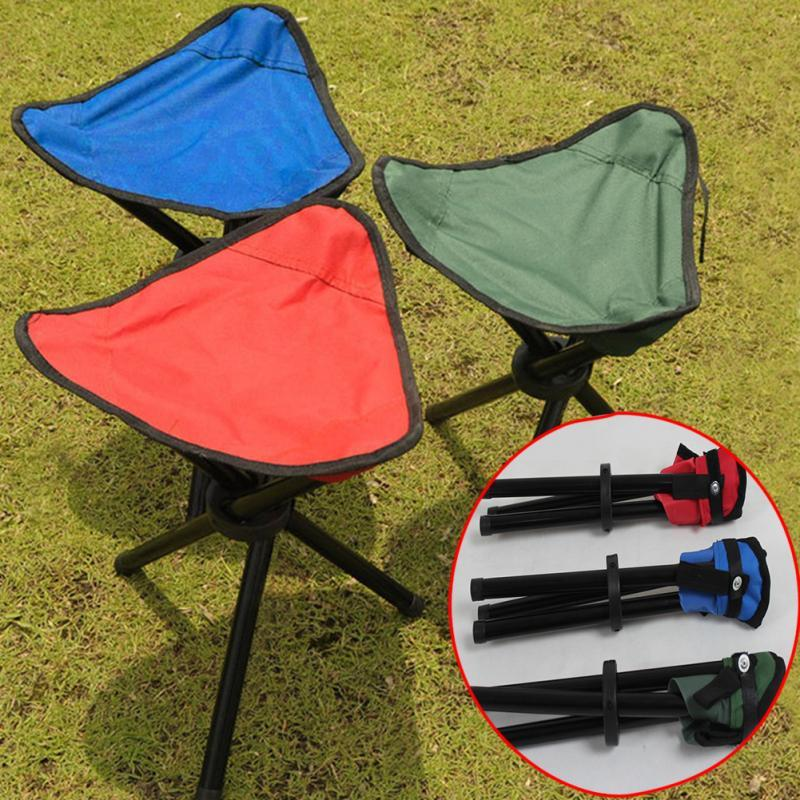 fishing chair legs unfinished wooden chairs for toddlers 2019 wholesale metal stand stable portable camping hiking foldable stool tripod seat picnic random color from vanesse