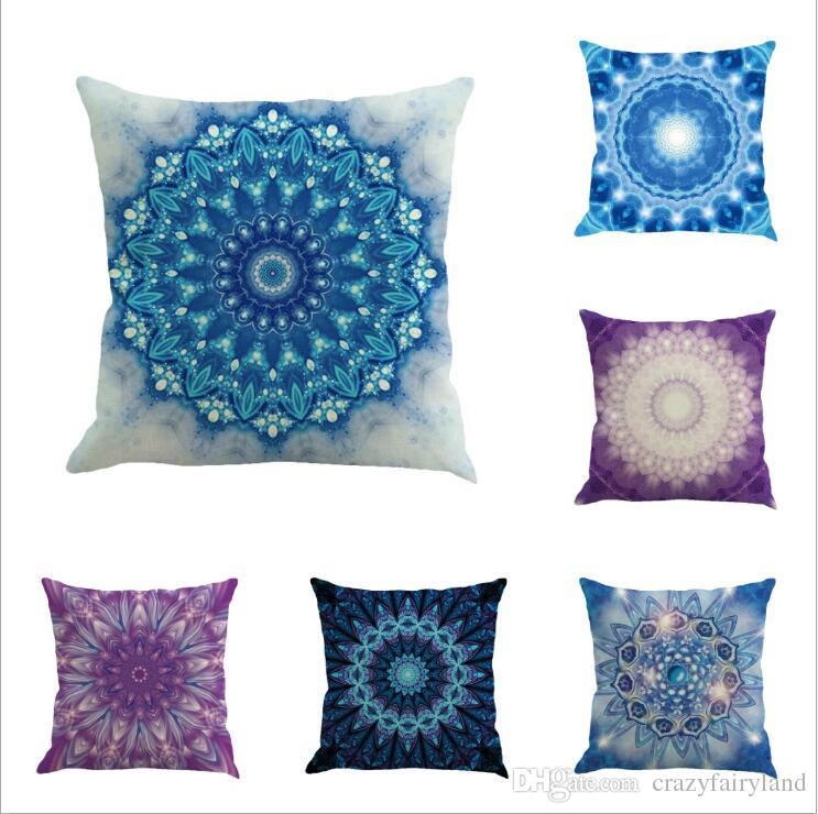 chair pad covers online india outdoor hanging egg with stand bohemia pillowcase mandala indian cushion cover geometric linen 70 styles seat car sofa decorative square 45 45cm pillow