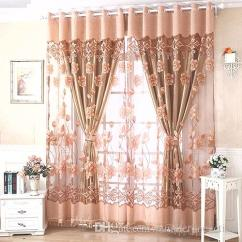 Curtains For The Kitchen Giagni Fresco Stainless Steel 1 Handle Pull Down Faucet Window Floral Voile Living Room Tulle Door Finished European Sheer Luxury Modern Home Decor Tab Top