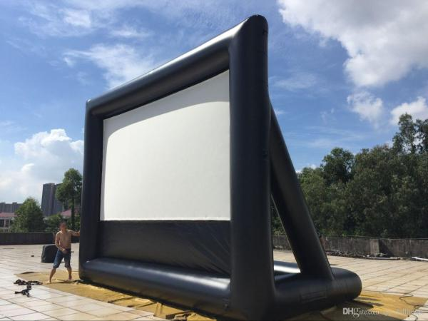 Air Ads 20x12 Ft Inflatable Movie Screen Wrinkle Fabric Backyard Professional Home