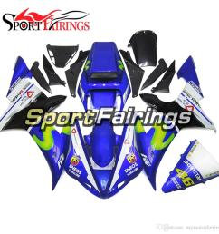 fiat 46 blue white fairings for yamaha yzf1000 r1 yzf r1 year 2002 2003 02 03 plastics abs motorcycle fairing kit bodywork motorbike covers aftermarket  [ 1000 x 1000 Pixel ]