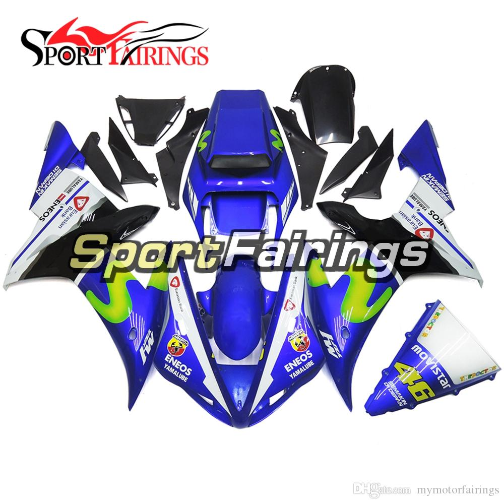 hight resolution of fiat 46 blue white fairings for yamaha yzf1000 r1 yzf r1 year 2002 2003 02 03 plastics abs motorcycle fairing kit bodywork motorbike covers aftermarket