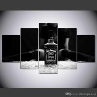 2018 Large 60x32 5panels Art Canvas Print Jack Daniels Art