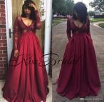 Black Girls Burgundy Prom Dresses 2018
