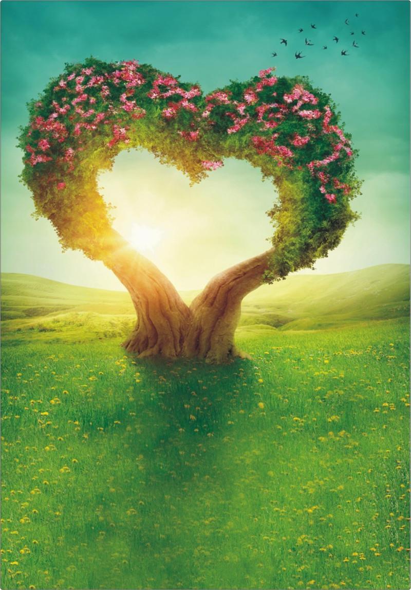 romantic heart shaped flowers