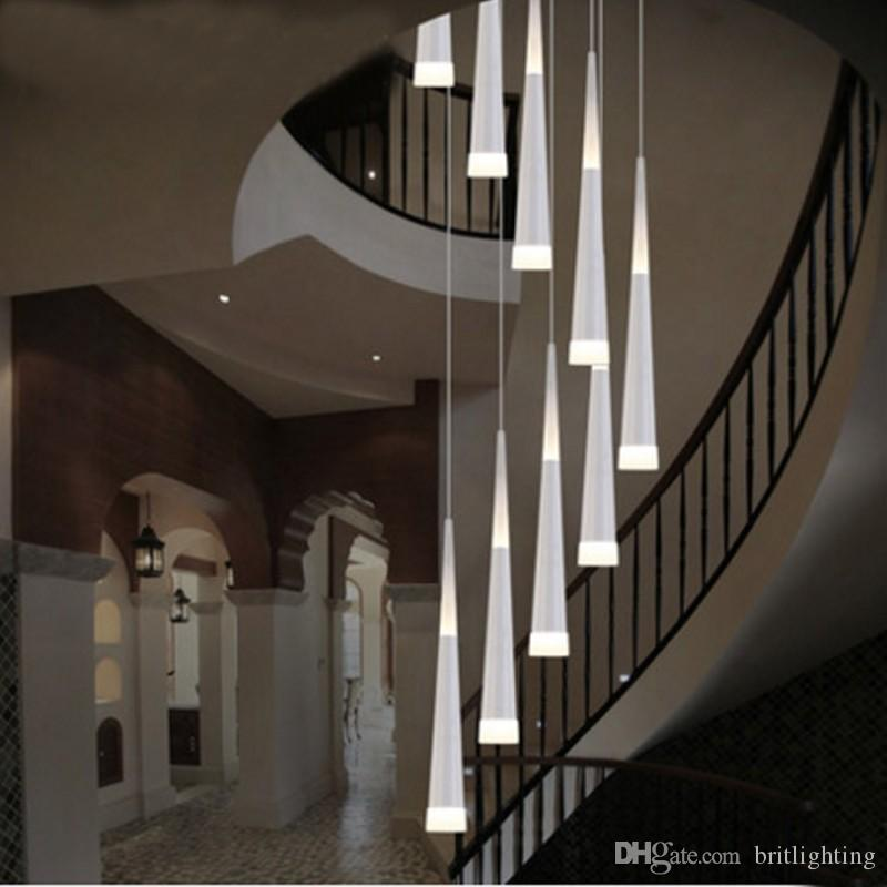 Led Rain Drop Lights Long Spiral Chandelier Indoor