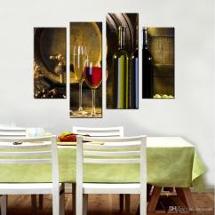 Framed Prints For Kitchens Kitchen Curtain Set Canvas Red Wine Barrel And Glass Wall Art Decor Bottle Picture Painting Modern Home Canada 2018 From Mocoart