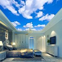 Blue Sky White Cloud Wallpaper Mural Living Room Bedroom ...