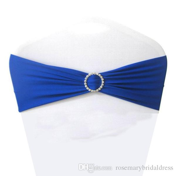 royal blue chair covers rentals newark nj 2019 spandex lycra sashes elastic satin bands with buckle for wedding cover bows wholesale from rosemarybridaldress