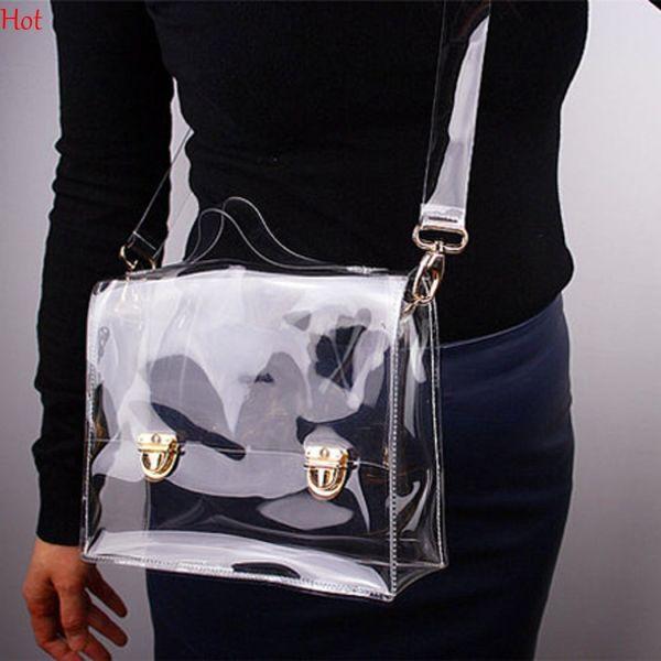 Hot Pvc Transparent Bags Women Clear Crossbody Bag