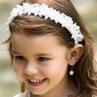 White Flower Girl Headbands Wedding Hair Accessories For ...
