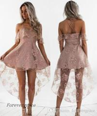 2017 Cute Pale Pink Short Homecoming Dress Vintage High ...