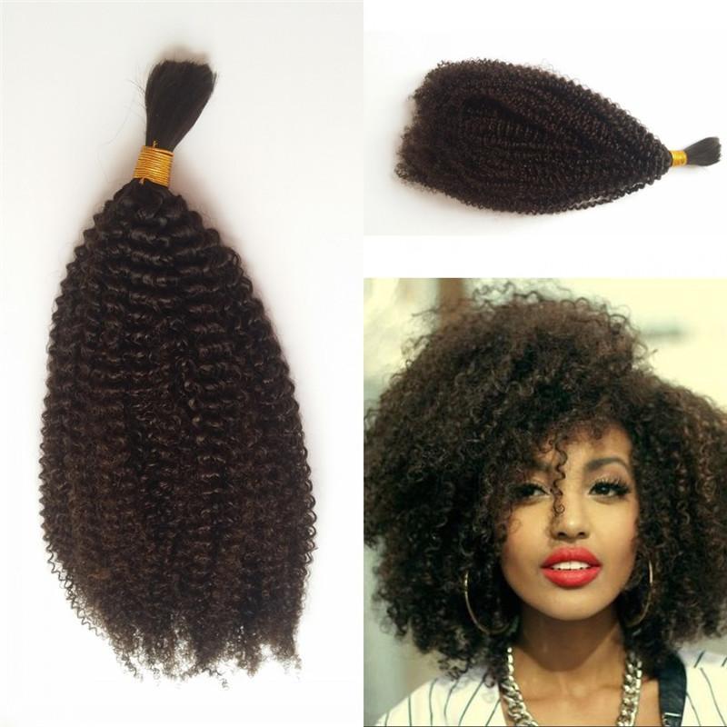 4b 4c Bulk Human Hair For Braiding Peruvian Afro Kinky