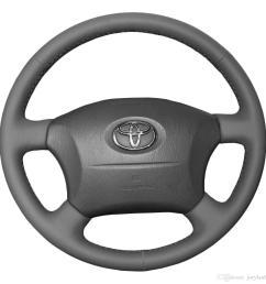 steering wheel covers case for toyota land cruiser prado old models genuine leather diy hand stitch car styling interior decoration go kart steering wheel  [ 1200 x 1200 Pixel ]