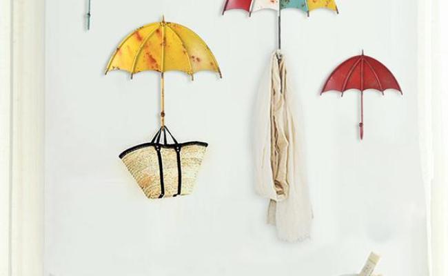 Colorful Umbrella Wall Hanging Decorations Key Hair Pin