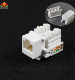 wholesale cat5e utp network module tool free rj45 connector information socket computer outlet cable adapter keystone jack for amp computer adapter cables  [ 950 x 950 Pixel ]