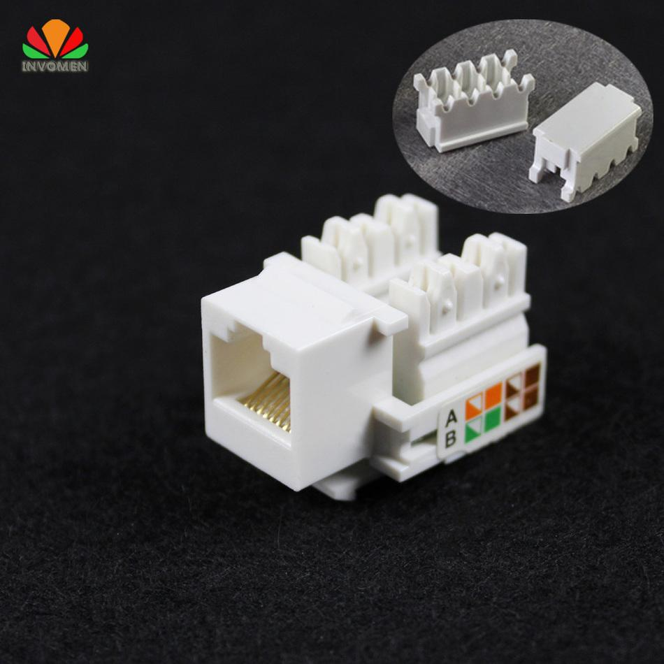 hight resolution of wholesale cat5e utp network module tool free rj45 connector information socket computer outlet cable adapter keystone jack for amp computer adapter cables