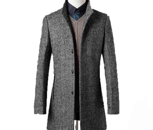 Wholesale 78 Woolen Overcoat Men Brand Clothing High Quality Mens Wool Coat Men Jacket New Mandarin Collar Mens Coats Overcoats Wuj1157 Overcoat Men Mens