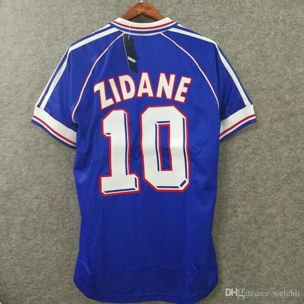2019 1998 Retro France Soccer Jersey Custom Number