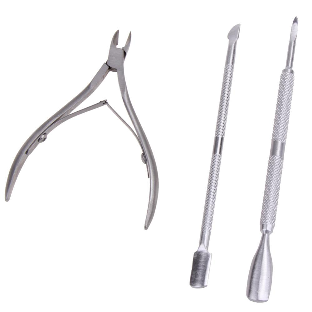 Stainless Steel Nail Tools Cuticle Pusher Nippers Clipper