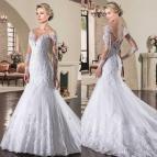 Mermaid Wedding Dress with Sleeves