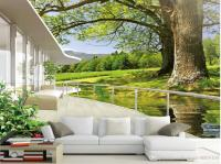 High Quality Costom Nature Scenery Tv Background Wall ...