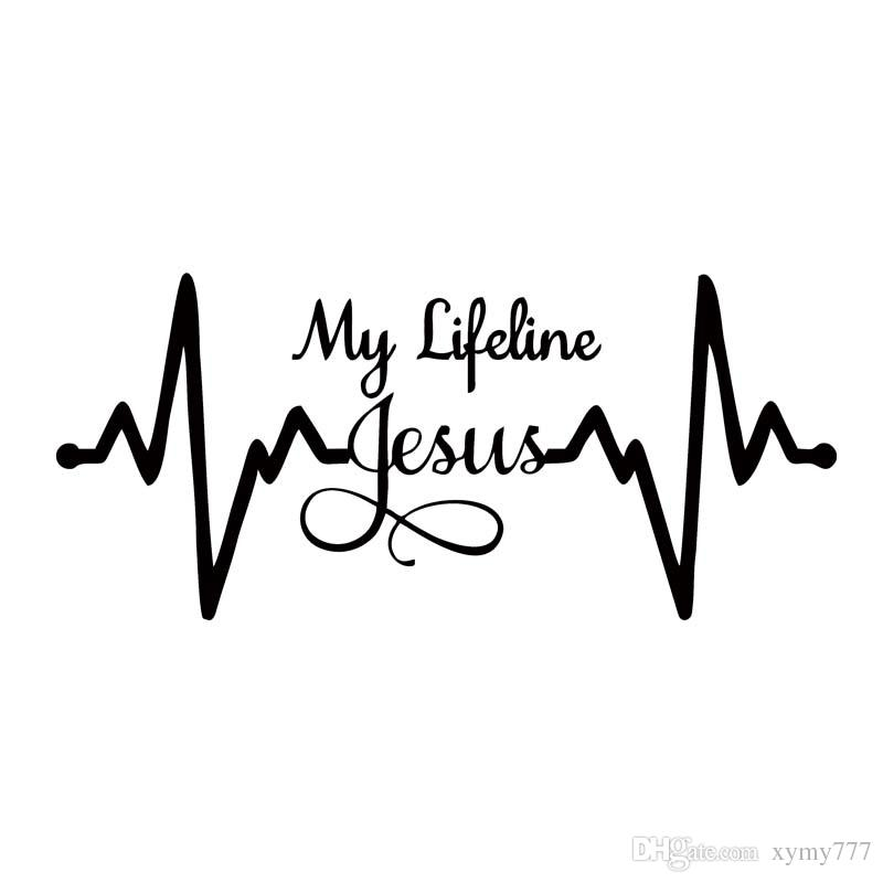 2019 For My Lifeline Jesus Decal Sticker Christian God