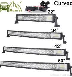 22 42 50 inch tri row curved cree led light bar offroad work lights combo beam truck suv atv 4x4 4wd utv rzv trailer driving barra lamp [ 1000 x 1000 Pixel ]