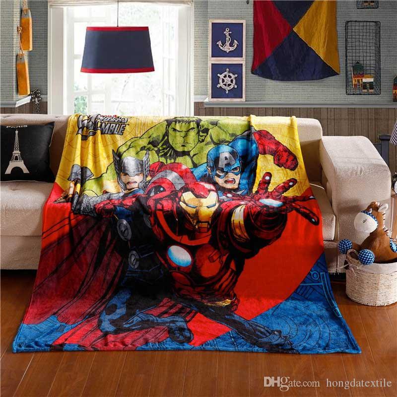 2017 NEW Cartoon Flannel Blanket 150x200cm The Avengers