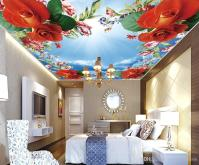 Wedding Decoration 3d Ceiling Wall Murals For Living Room