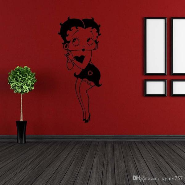 Hot Beauty Betty Boop Vinyl Graphics Removable