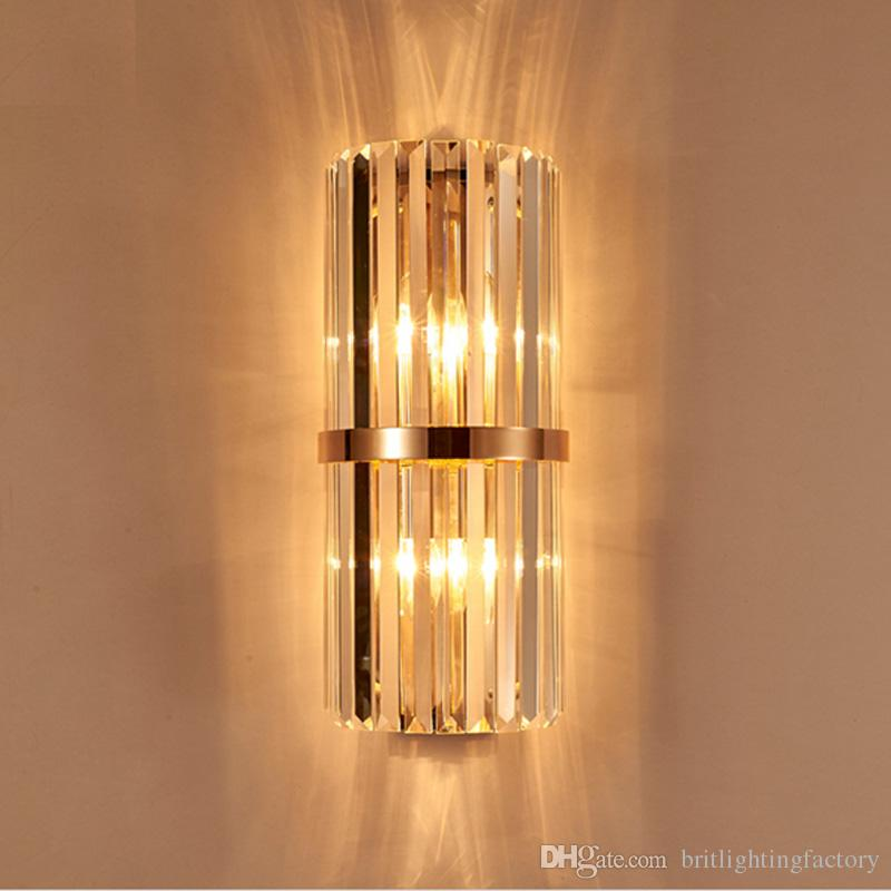 living room wall lamps framed pictures for ireland 2019 k9 crystal sconce bedroom lamp with switch livingroom dining led light conference hall hotel gold from